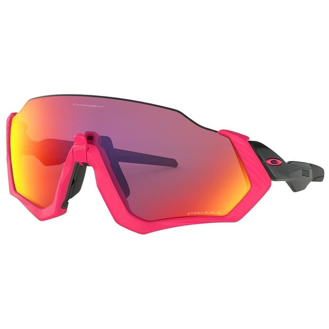 Oakley Flight Jacket Neon Pink and Polished Black w/PRIZM Road Lenses OO9401-0637