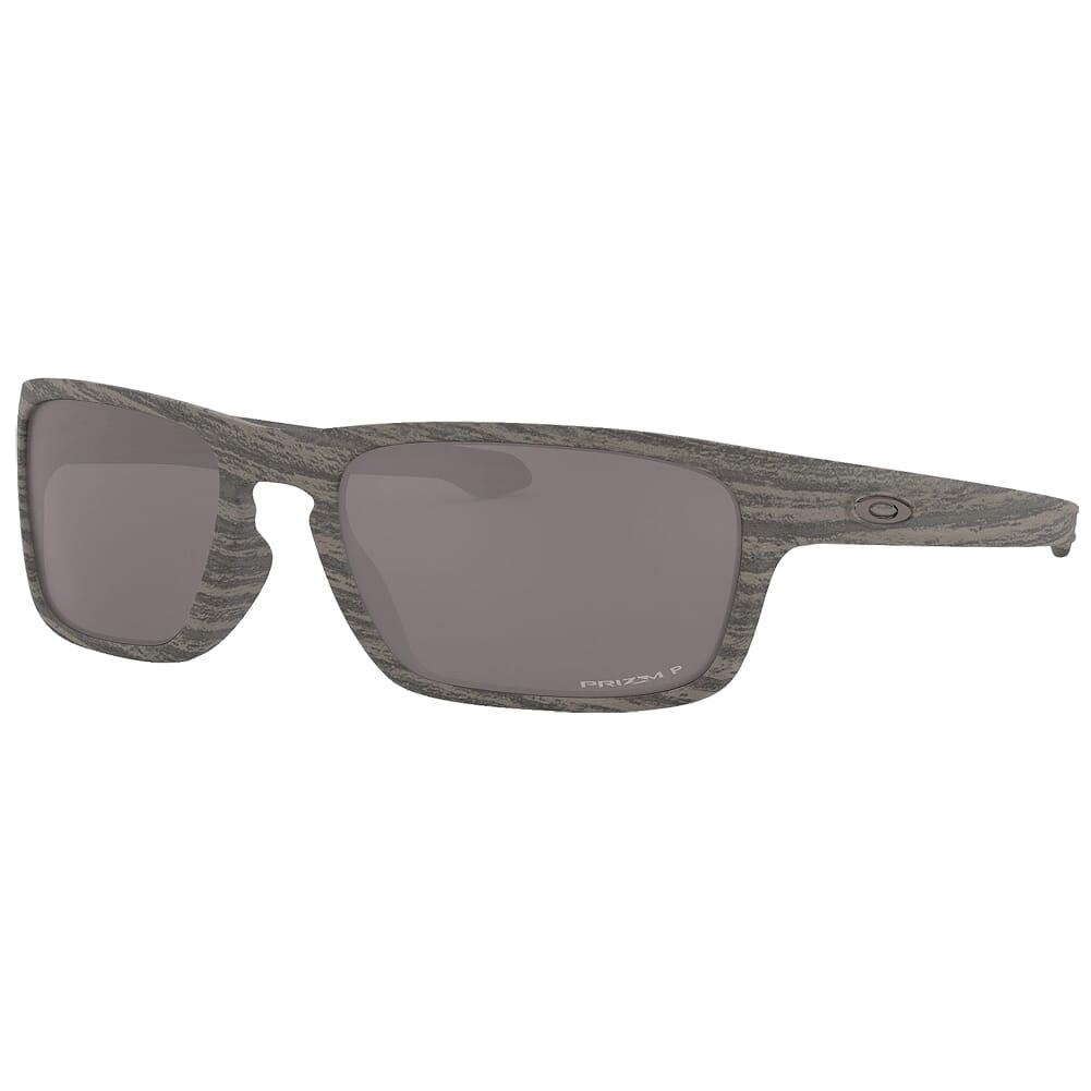 Oakley Sliver Stealth Woodgrain w/PRIZM Black Polarized Lenses OO9408-1356