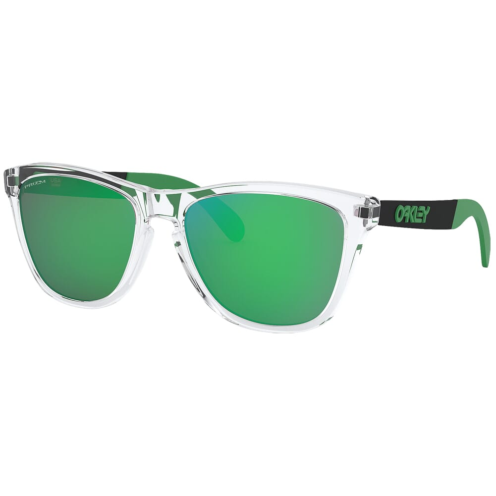 Oakley Frogskins Mix Polished Clear w/PRIZM Jade Lenses OO9428-0455