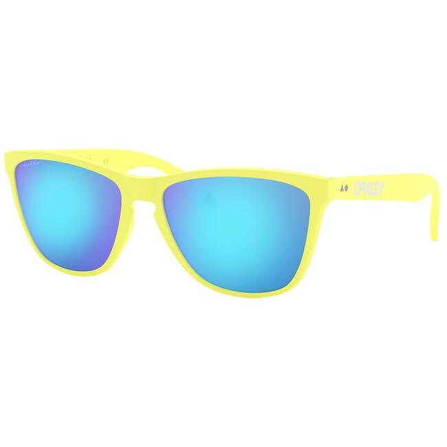 Oakley Frogskins 35th Matte Neon Yellow w/PRIZM Sapphire Lenses OO9444-0357