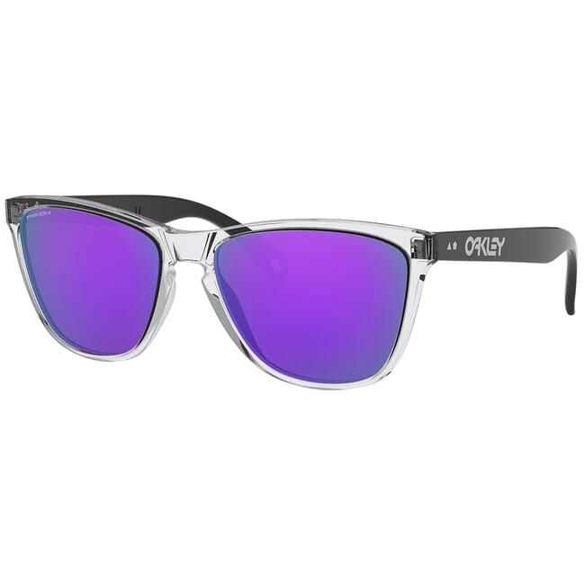 Oakley Frogskins 35th Polished Clear w/PRIZM Violet Lenses OO9444-0557