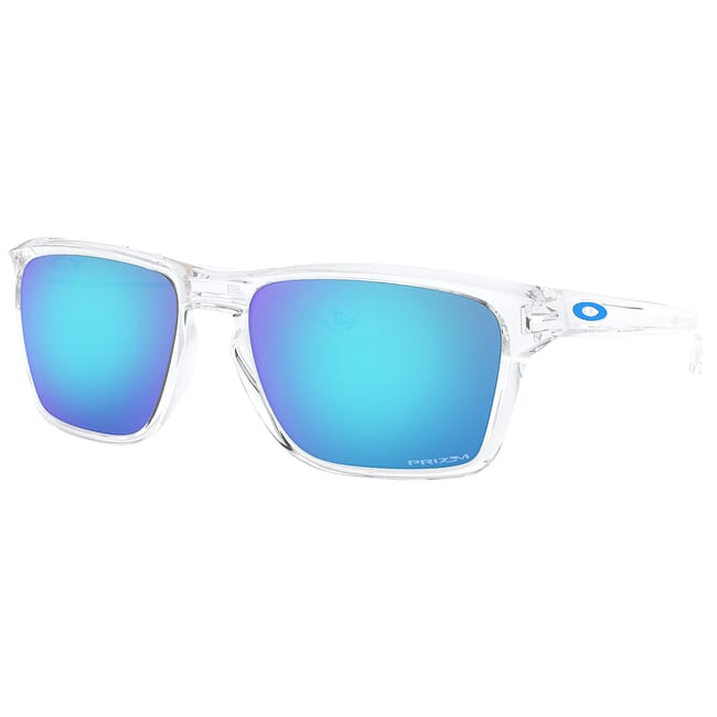 Oakley Sylas Polished Clear w/PRIZM Sapphire Lenses OO9448-0457
