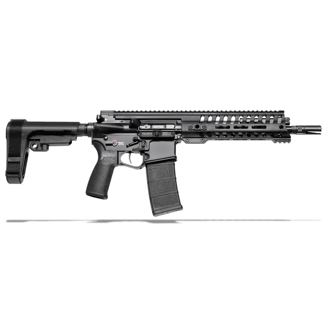 "POF P415 .300 Black 10.5"" Bbl Black Pistol w/9"" Rail, 5 Position Piston Gas Block, and SB-A3 Brace 01513"