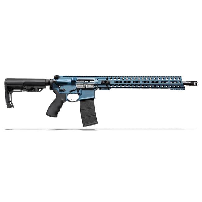 "POF Wonder 5.56 x 45mm NATO 16.5"" Bbl Blue Ti Rifle w/14.5"" Rail and Mid-Length Lo Pro DI Gas Block 01580"