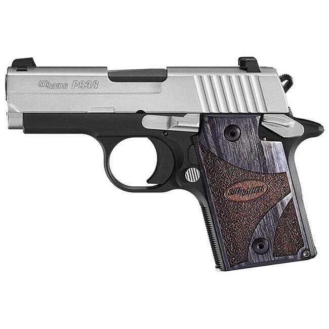 Sig Sauer P938 Blackwood 9mm Pistol 938-9-BG-AMBI
