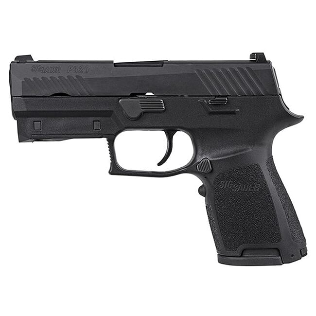 "Sig Sauer P320 9mm 3.9"" Nitron Black Striker Fired Contrast Sights Mod Poly Grip (2) 15rd Magazines LIMA320 Red Handgun 320C-9-B-LIMA-R"