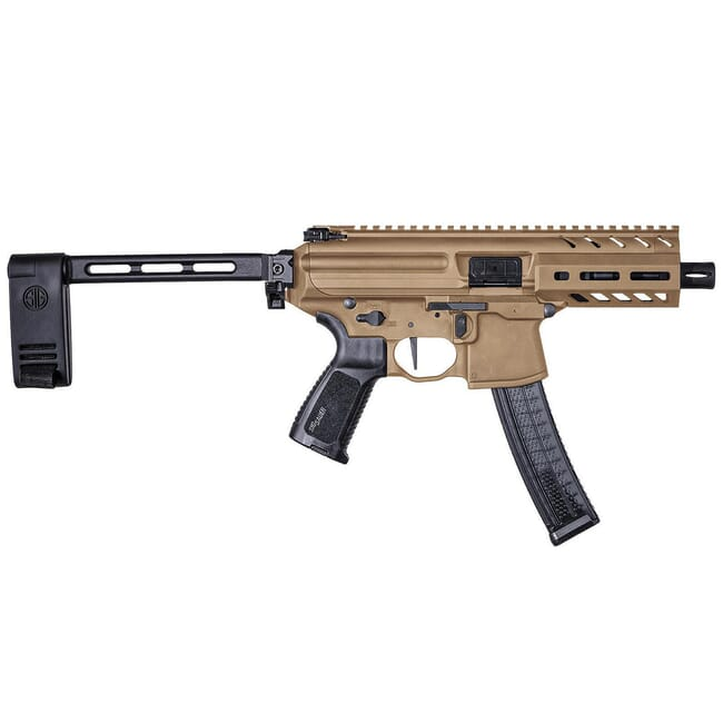 Sig Sauer SIG MPX, 9mm, Pistol, 4.5in, Coy, Semi, Pistol Brace,  Al MLOK Hg, (1) 30rd Mag Pistol PMPX-4B-9-COY