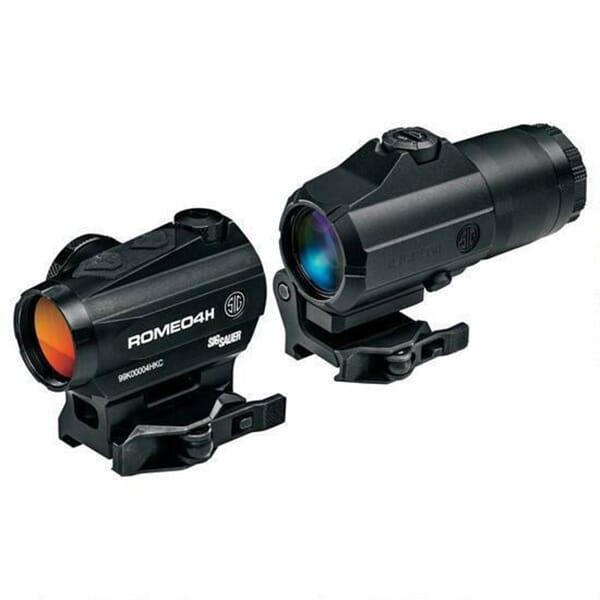 Sig Sauer ROMEO4H  Red Dot Sight Ballistic Circle Dot w/ Juliet 4x Magnifier Black SORJ43111