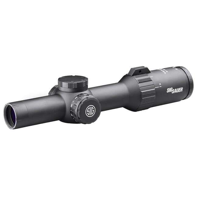 Sig Sauer TANGO4 Scope, 1-4x24mm, 30mm, FFP, Mrad Illum Reticle, 0.2 Mrad Adj, Black SOT41114