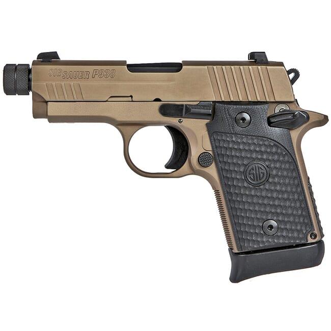 "Sig Sauer P938, 9mm 3.5"" Emporer Scorpion FDE SIGLITE Black G10 Grip 938-9-ESCPN-TB-AMBI"