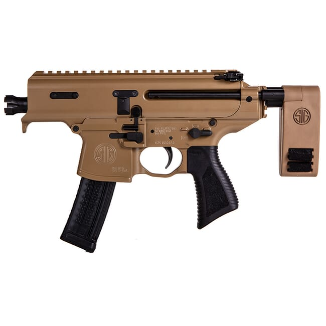 Sig Sauer SIG MPX, 9mm, Pistol, 3.5in, Pdw, Coy, Semi, Pcb, (1) 20rd Pistol PMPX-3B-CH