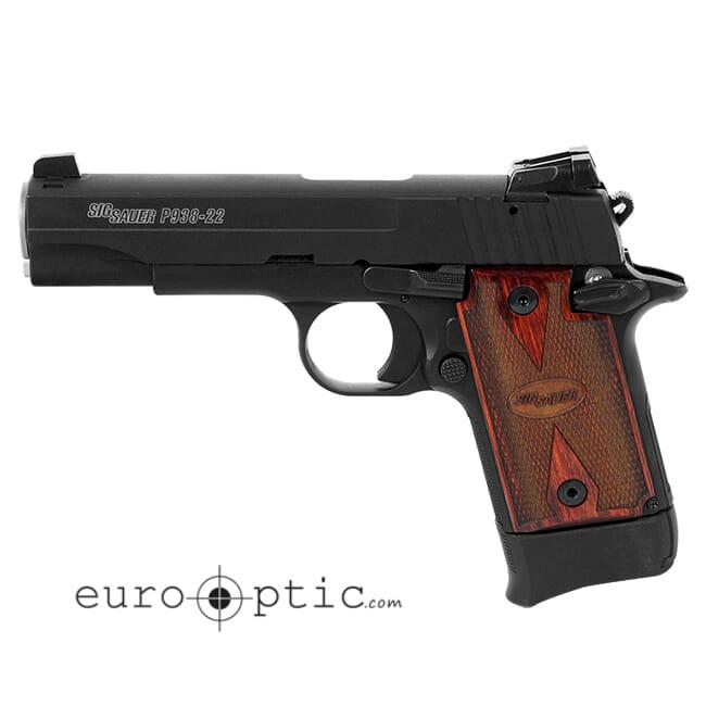 Sig Sauer P938 Micro 22 LR Rosewood Grip 10 RD Mag