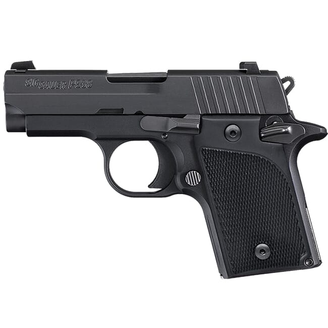 "Sig Sauer P938 9mm 3"" Nitron SA Polymer Grip Black 6rd Mag Handgun 938-9-B-AMBI"