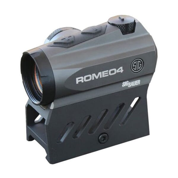 Sig Sauer Romeo4DR Compact 1x20 Red Dot Sight 2 MOA Red Dot 65 MOA Circle Dot 0.5 MOA Adj Graphite SOR41111