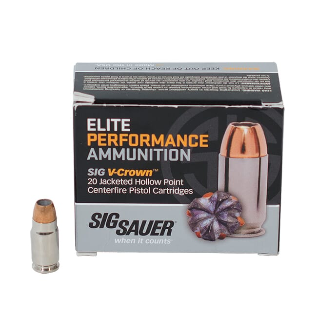 SIG Elite Performance V-Crown .357 SIG 125 Grain Jacketed Hollow Point