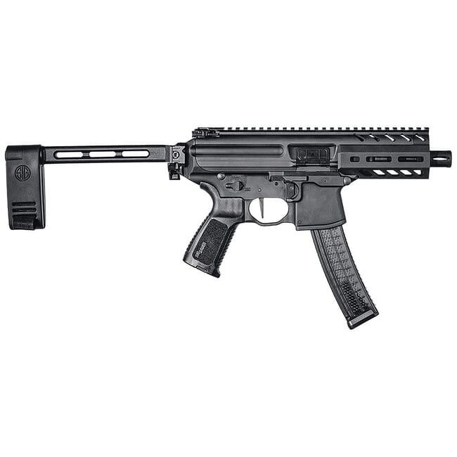 Sig Sauer SIG MPX, 9mm, Pistol, 4.5in, Blk, Semi, Pistol Brace,  Al MLOK Hg, (1) 30rd Mag Pistol PMPX-4B-9