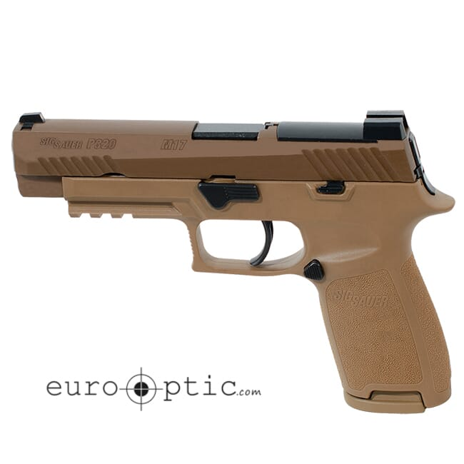 Sig Sauer M17 P320 Pistol 9mm Coyote SIGLITE w/DeltaPoint Pro Plate (2) 17rd Mag 320F-9-M17