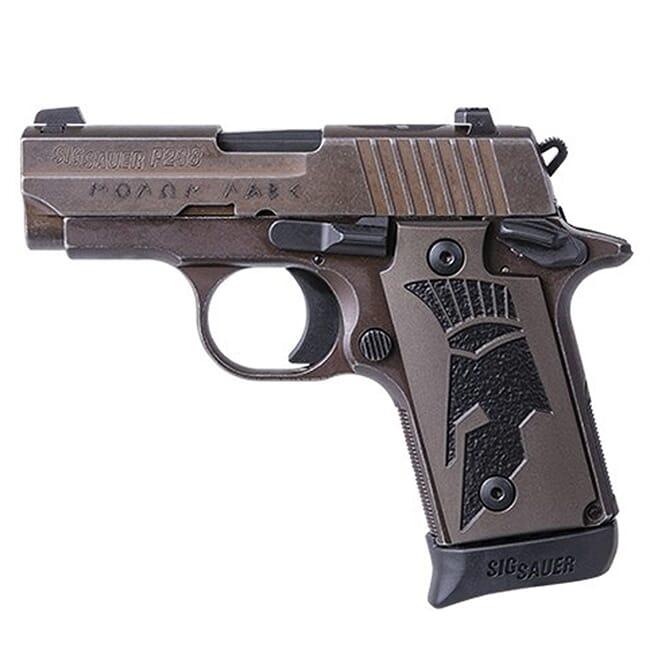 Sig Sauer P238, 380 ACP, 2.7in, Spartan II, Distressed Coyote, Sao, Siglite, Spartanii Grip, (1) 7rd Steel Mag Pistol 238-380-SPARTANII