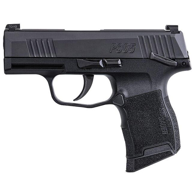Sig Sauer P365, 9mm, 3.1in, Nitron, Blk, Striker, X-Ray 3, Polymer Grip, (2) 10rd Steel Mag, Manual Safety Pistol 365-9-BXR3-MS