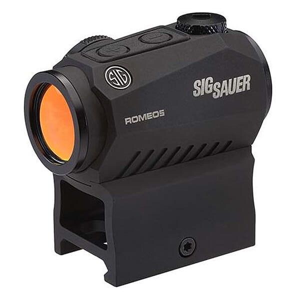 Sig Sauer ROMEO5 Compact Red Dot Sight 1X20MM, 2 MOA Dot, 1/2 MOA Adjustments, M1913 Rail Mount BLACK SOR52001