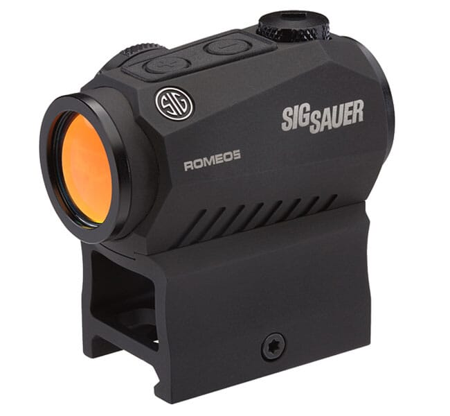 Sig Sauer ROMEO5 Compact Red Dot Sight 1X20MM, 2 MOA Dot, 1/2 MOA Adjustments, M1913 Rail Mount BLACK SOR52001