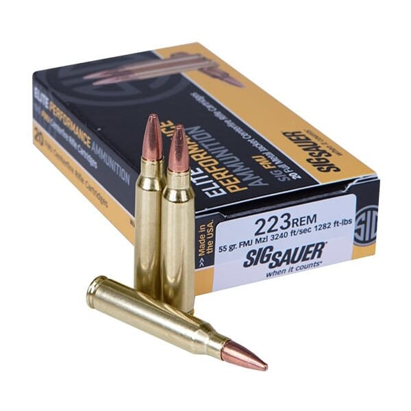 Sig Sauer Ammo .223 Rem 55gr Elite Ball 20/Box E223B1-20
