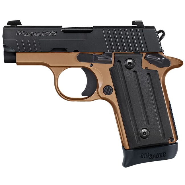 "Sig Sauer P238 Copperhead .380 ACP 2.7"" Nitron and Coyote (1) 7rd Mag Micro-Compact Handgun 238-380-RT-CH"
