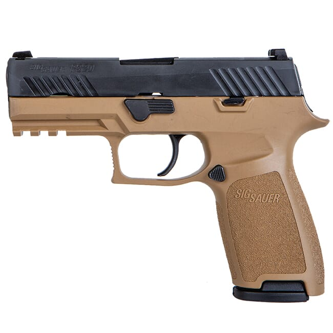"Sig Sauer P320 Copperhead 9mm 3.9"" Nitron Carry Handgun w/ Coyote Tan Grip (2) 17 rd. Mags 320CA-9-RT-CH"