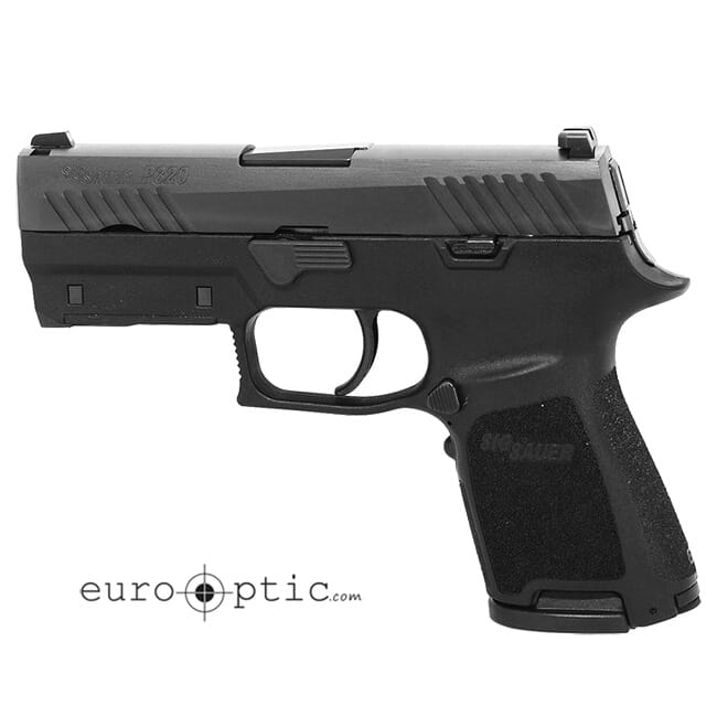"Sig Sauer P320 9mm 3.9"" Nitron Black Striker Fired Contrast Sights Mod Poly Grip (2) 15rd Magazines LIMA320 Green Handgun 320C-9-BSS-LIMA-G"