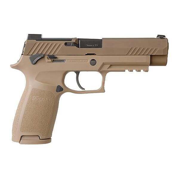 Sig Sauer M17 P320 Pistol 9mm Coyote Manual Safety SIGLITE w/DeltaPoint Pro  Plate (2) 17rd Mag 320F-9-M17-MS