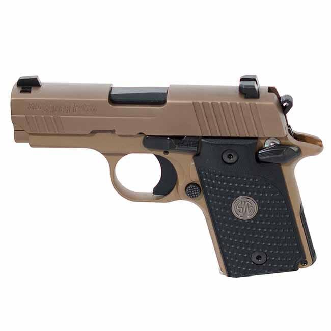 "Sig Sauer P938 9mm 3"" EMPEROR SCORPION FDE SAO BLACK G10 GRIP MAG 938-9-ESCPN-AMBI"