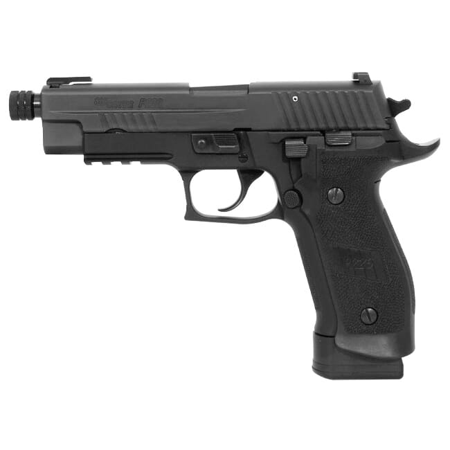 Sig Sauer P226 TACOPS, Black Nitron, Beavertail, SRT, TFO / SIGLITE Night Sight Combo, Magwell Grips E26R-9-TACOPS-TB