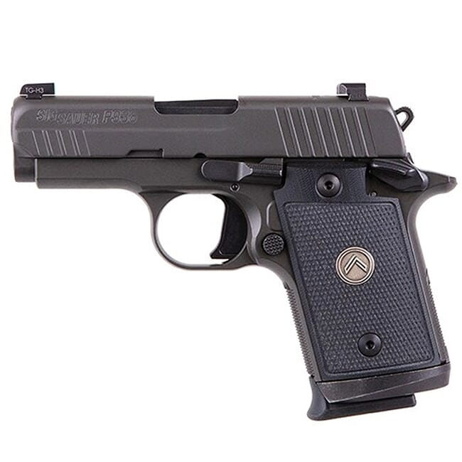 "Sig Sauer P938 9mm 5.9"" Legion Gray DA/SA Pistol X-Ray 3 Black G-10 Grip (3) 7rd Steel Mag 938-9-LEGION"