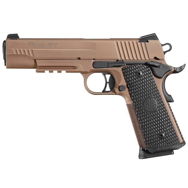 Sig Sauer 1911 Emperor Scorpion MA Compliant FDE Pistol w/ SIGLITE Night Sights and (2) 8rd Mags 1911RM-45-ESCPN