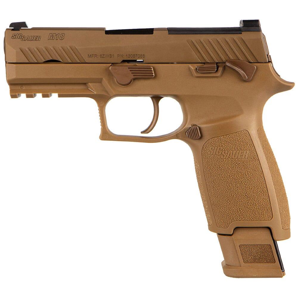 Sig Sauer P320 M18 Commemorative 9mm Optics Ready Coyote MS Pistol w/ (1) 17rd & (2) 21rd Mags M18-COMMEMORATIVE