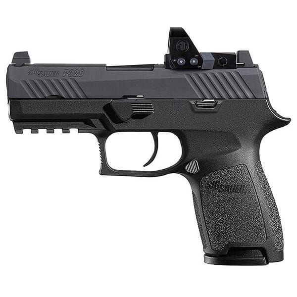 """Sig Sauer P320 Compact Nitron 9mm 3.9"""" Compliant Pistol w/ROMEO1PRO, Rail, Contrast Sights, and (2) 10rd Steel Mags 320C-9-B-RXP-10"""