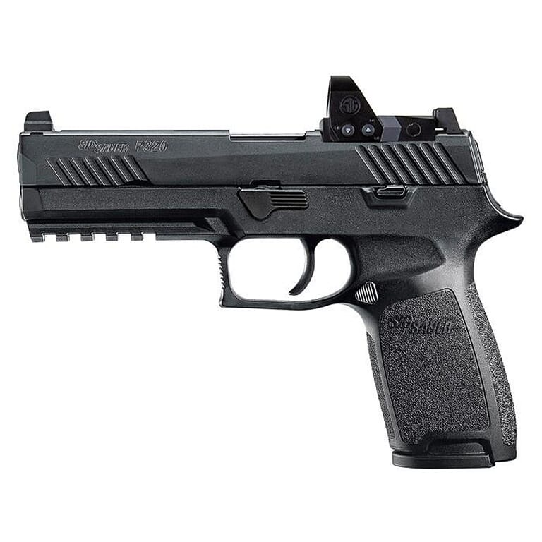 """Sig Sauer P320 Nitron 9mm 4.7"""" Compliant Pistol w/ROMEO1PRO, Rail, Contrast Sights, and (2) 10rd Steel Mags 320F-9-B-RXP-10"""