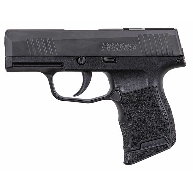 Sig Sauer P365 SAS 9mm Micro-Compact Black Pistol w/ (1) 10rd Flush & (1) 10rd Extended Mag 365-9-SAS-C