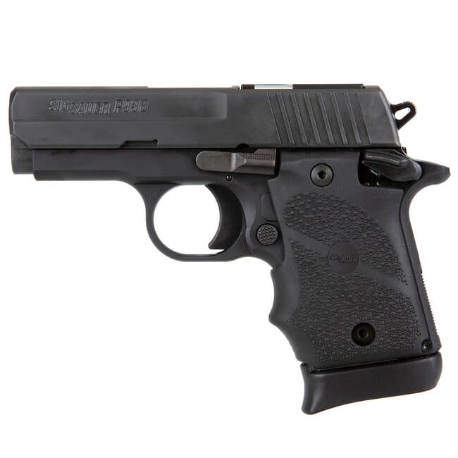 Sig Sauer P938 SAS 9mm Blk/SSl Micro-Compact 7rd Pistol w/ FT Bullseye Sight 938-9-SAS2B