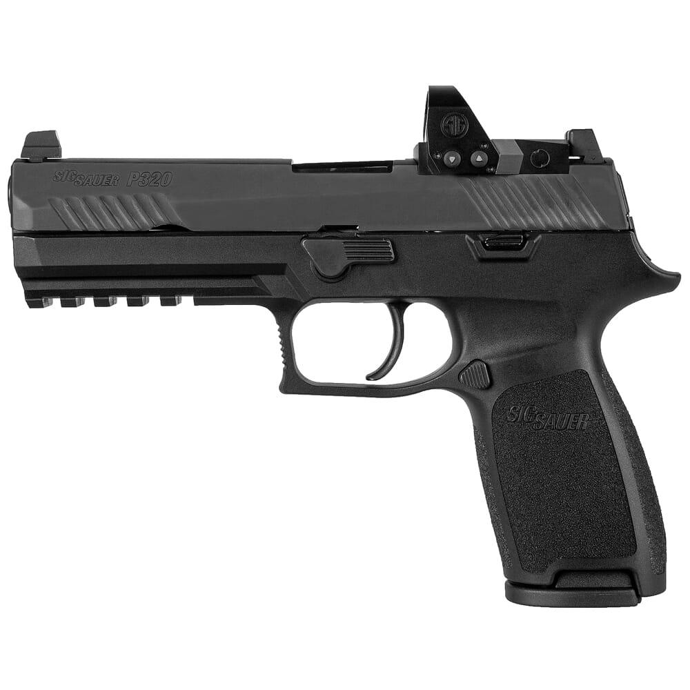 Sig Sauer P320, 9mm, 4.7in, Nitron, Blk, Striker, Mod Poly Grip, (2) 17rd Mag, ROMEO1pro, Rail Pistol 320F-9-B-RXP