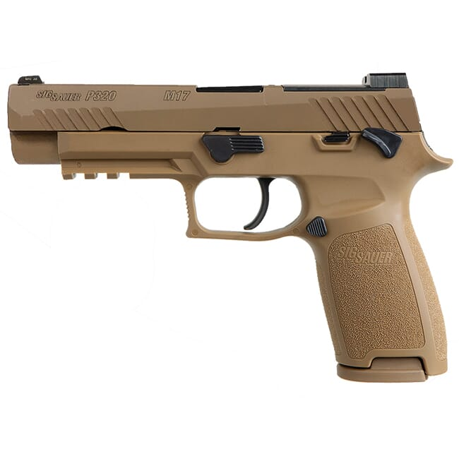 "Sig Sauer P320 9mm 4.7"" M17 Coyote Striker MS Pistol w/ (3) 10Rd Mags 320F-9-M17-MS-10"