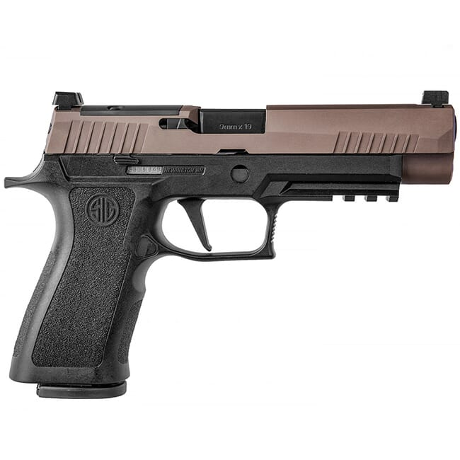 Sig Sauer P320, 9mm, 4.7in, X-Series, 2-Tone Coyote, Striker, VTAC, (3) 17rd Mag, Rail, Optic Ready Pistol 320XF-9-VTAC-R2