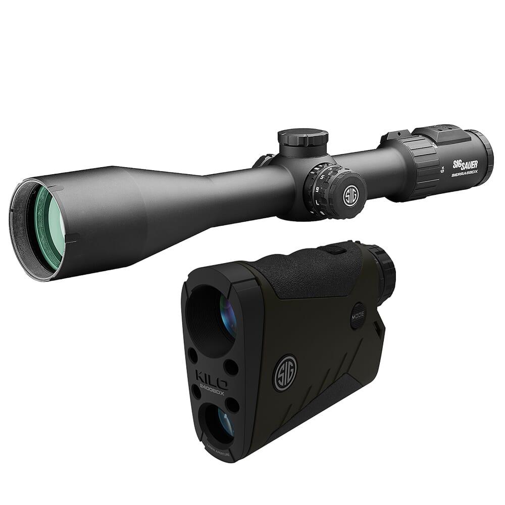 Sig Sauer BDX Combo Kit, Kilo2400BDX LRF and Sierra6BDX Rifle Scope, 5-30x56mm SOK24BDX61