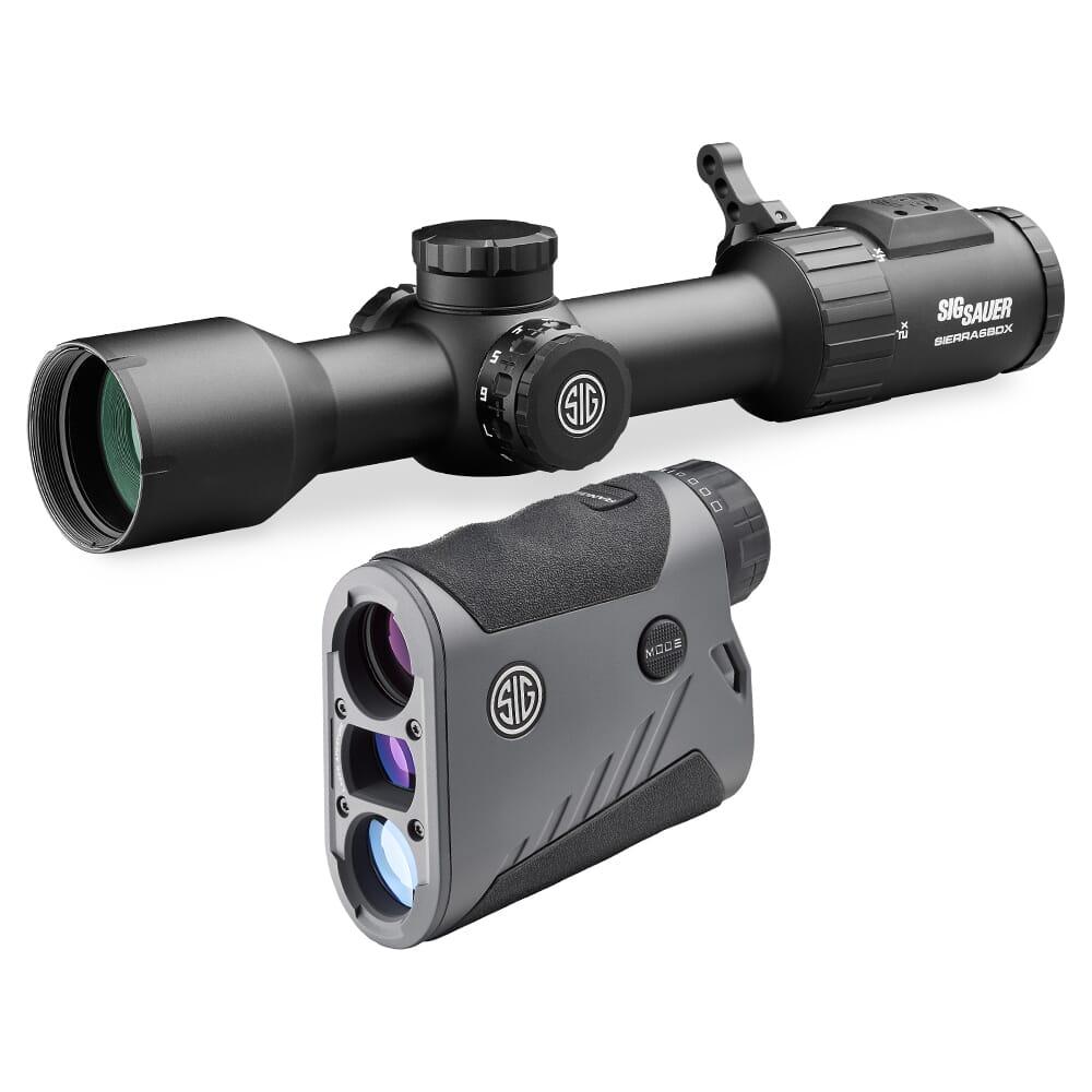 Sig Sauer BDX Combo Kit, Kilo1600BDX LRF and Sierra6BDX Rifle Scope, 2-12x40mm SOK16BDX61