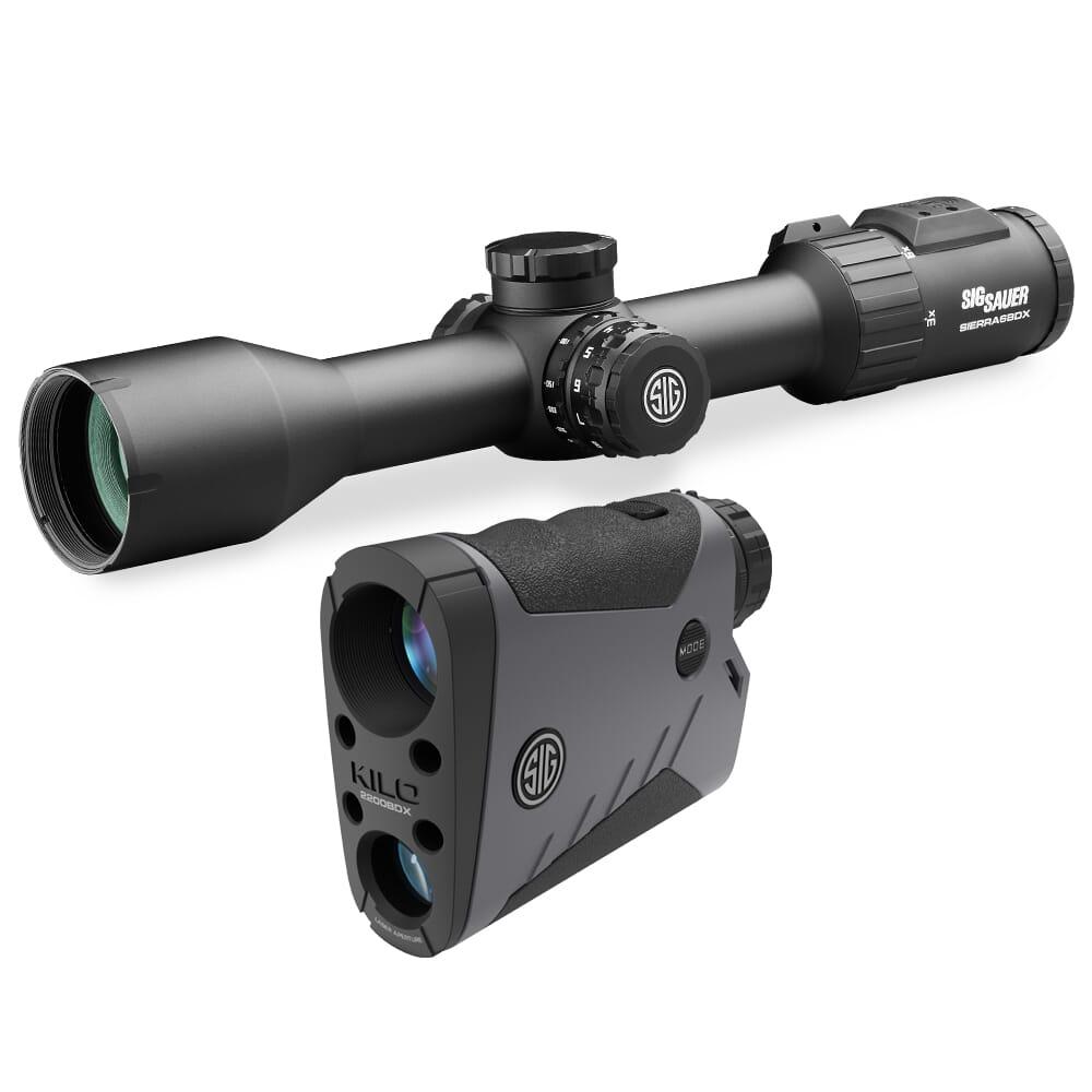 Sig Sauer BDX Combo Kit, Kilo2200BDX LRF and Sierra6BDX Rifle Scope, 3-18x44mm SOK22BDX61