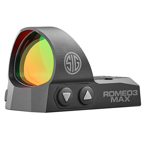 Sig Sauer ROMEO3 MAX, 1x30mm, 6 MOA, 1.0 MOA Adjust, M1913 Mount, Black SOR32003