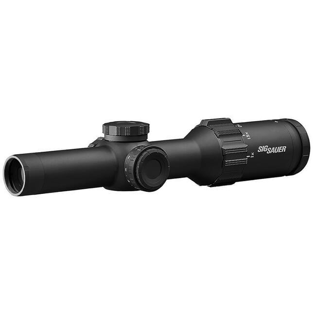 Sig Sauer TANGO6T Scope, 1-6x24mm, 30mm, FFP, 762 Extended Range Reticle, 0.2 Mrad, Capped Turret, Black SOT61134