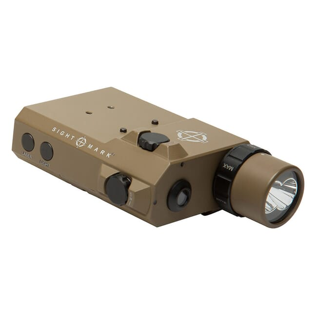 Sightmark LoPro Combo Flashlight (Visible and IR) and Green Laser Sight - Dark Earth SM25013DE