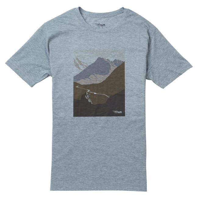 Sitka Glassing Tee SS Heather Grey 20098-HG