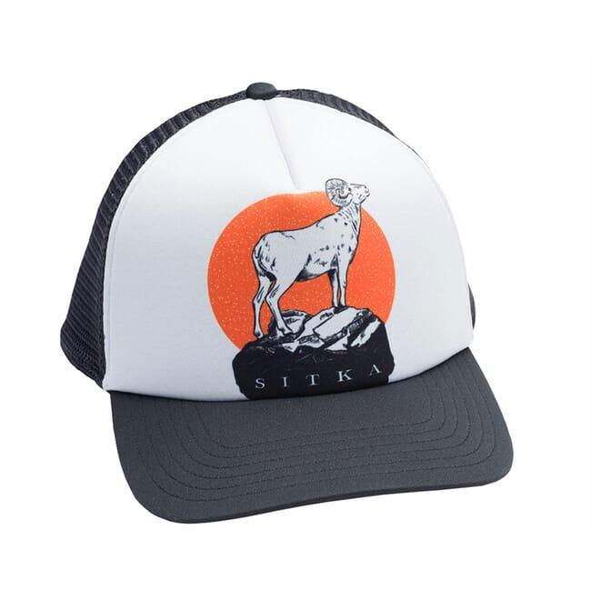 Sitka Gear Lyle Hebel Black Standing Ram Foam Trucker Hat 20127-BK-OSFA